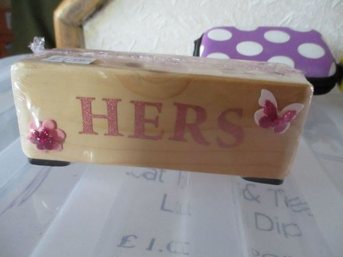 Hers - Wooden Stationery Caddy - Des In The Shed
