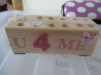 U 4 Me - Wooden Stationery Caddy - Des In The Shed