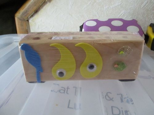 Parrot & Eyes - Wooden Stationery Caddy - Des In The Shed