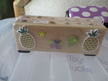 Pineapple Party - Wooden Stationery Caddy - Des In The Shed