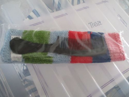 Blue, Green, Pink & Red Knitted Comb Case with Comb - Knitted By KittyMumma
