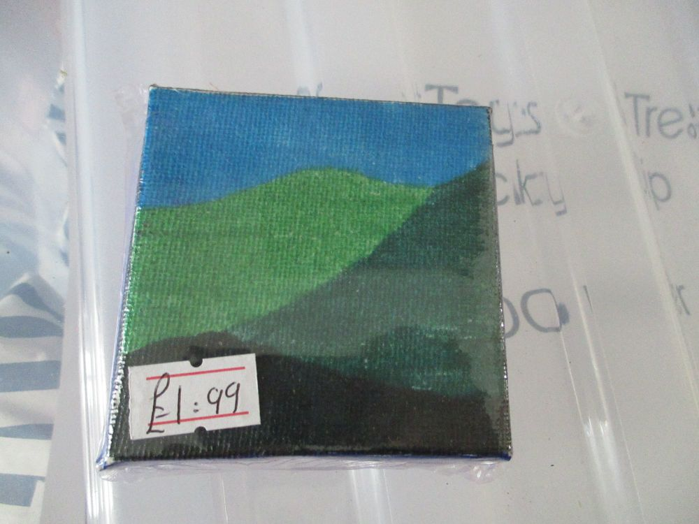 Three Hills - 7cm Box Frame Canvas - JGPaws