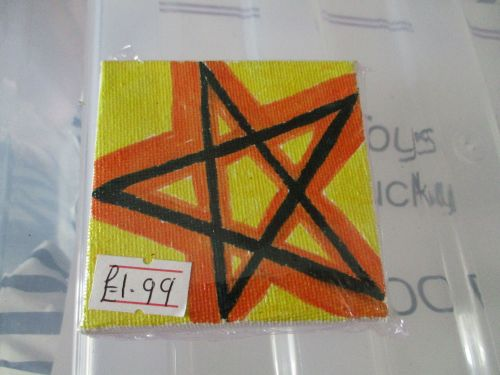 Pentacle on Yellow - 7cm Box Frame Canvas - JGPaws