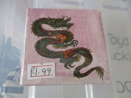 Twisted Dragon on Pink - 7cm Box Frame Canvas - JGPaws