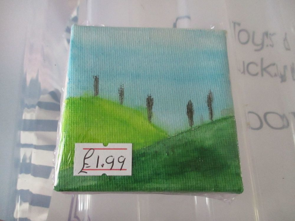 Two Hills with Trees - 7cm Box Frame Canvas - JGPaws