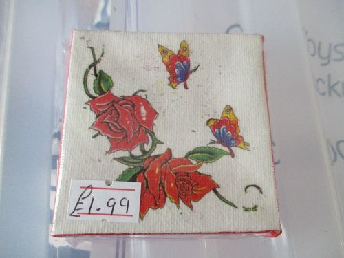 Roses and Butterflies - 7cm Box Frame Canvas - JGPaws