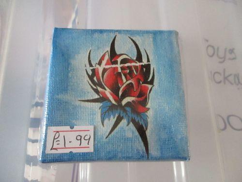 Heart on Blue - 7cm Box Frame Canvas - JGPaws