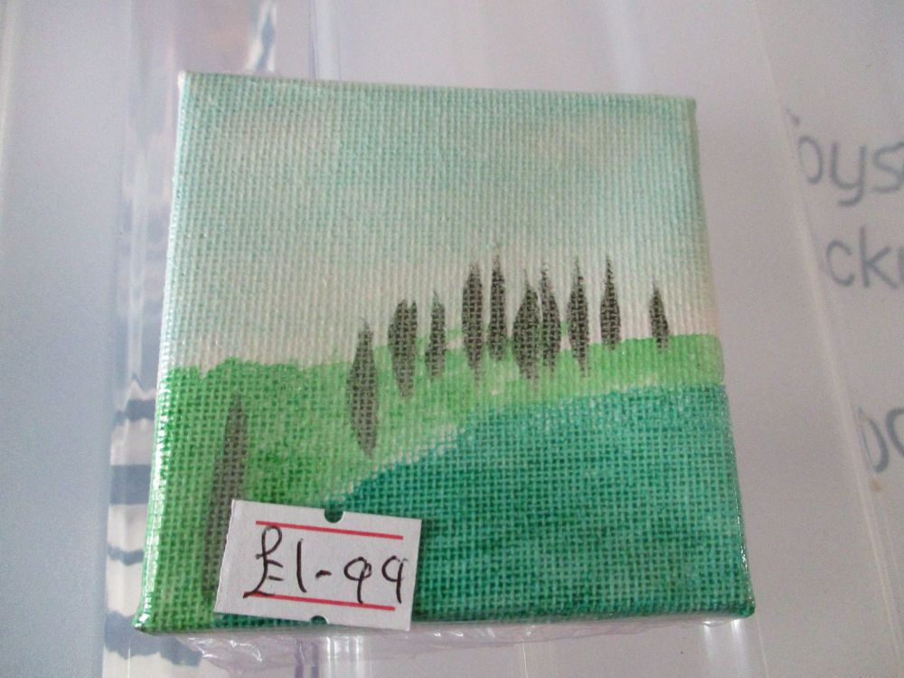 Two Hills with Forest of Trees - 7cm Box Frame Canvas - JGPaws