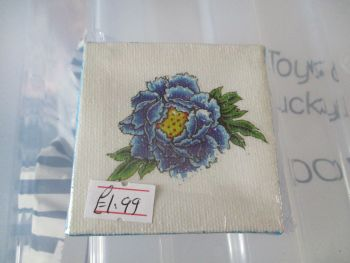 Blue Flower - 7cm Box Frame Canvas - JGPaws