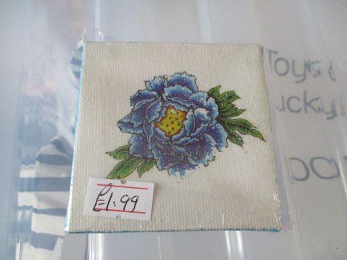 Blue Flower - 7cm Box Frame Canvas - JGPaws