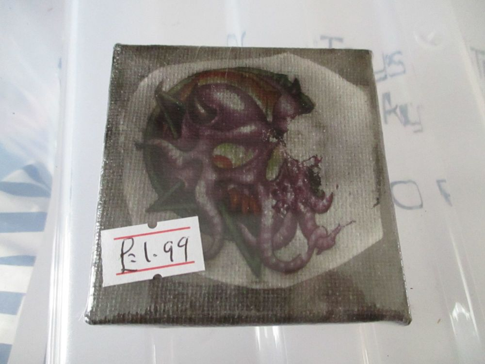 Cthulhu Skull - Test - 7cm Box Frame Canvas - JGPaws