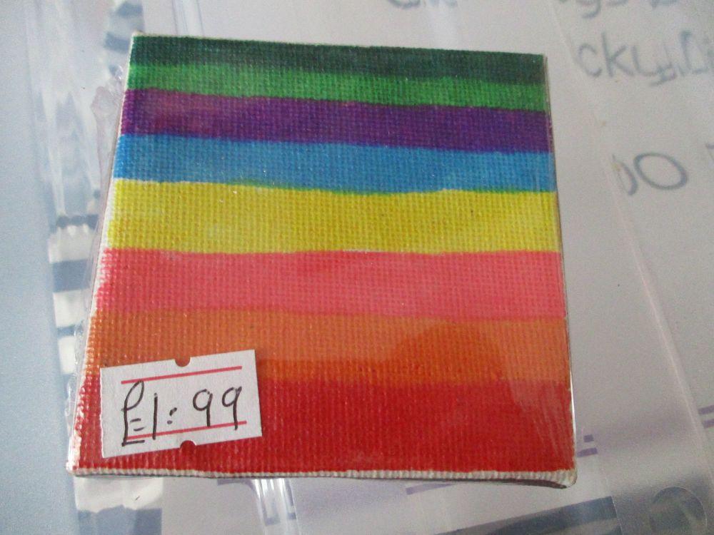 Striped Rainbow - 7cm Box Frame Canvas - JGPaws