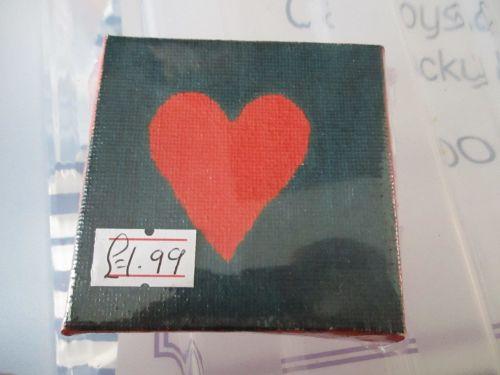 Heart on Black - 7cm Box Frame Canvas - JGPaws