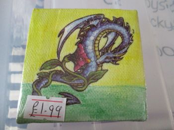 Sea Dragon with Flower - 7cm Box Frame Canvas - JGPaws