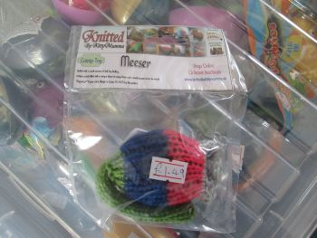 Green / Blue / Red / Grey Knitted Catnip Meeser - Knitted By KittyMumma