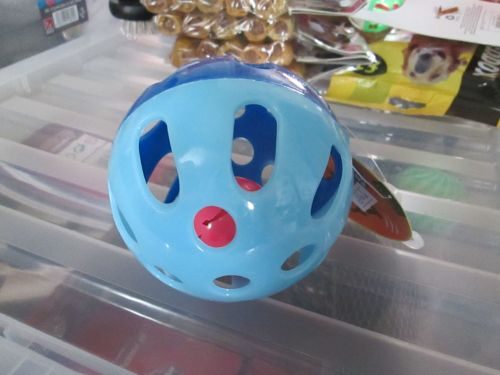 Two Tone Blue Fletchers Paws N Claws Cat Tinkle Ball with Bell