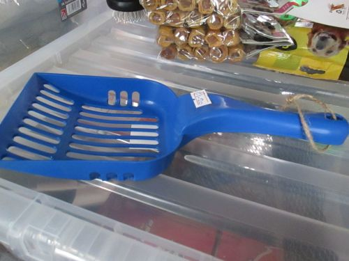 Mid Blue Plastic Raking Cat Litter Scoop