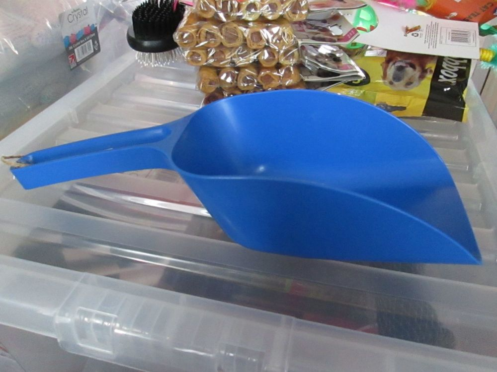Mid Blue Plastic Cat Dog Pet Food Litter Scoop