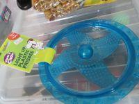 Blue Fletchers Chase & Chew Light Up Flashing Dog Frisbee
