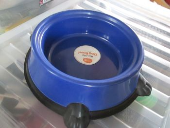 Blue Large Non-Slip Pet Bowl