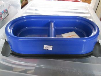 Blue Double Non-Slip Pet Bowl