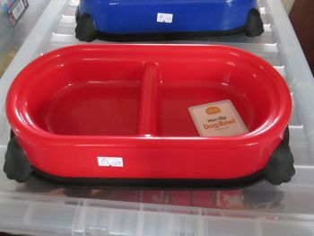 Red Double Non-Slip Pet Bowl