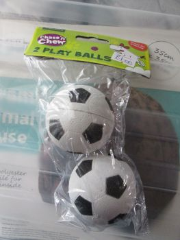 Football Style Fletchers Chase & Chew 2Pk Rubber Balls