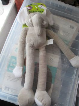 Fletchers Chase N Chew Plush Squeaky Dog Toy - Elephant