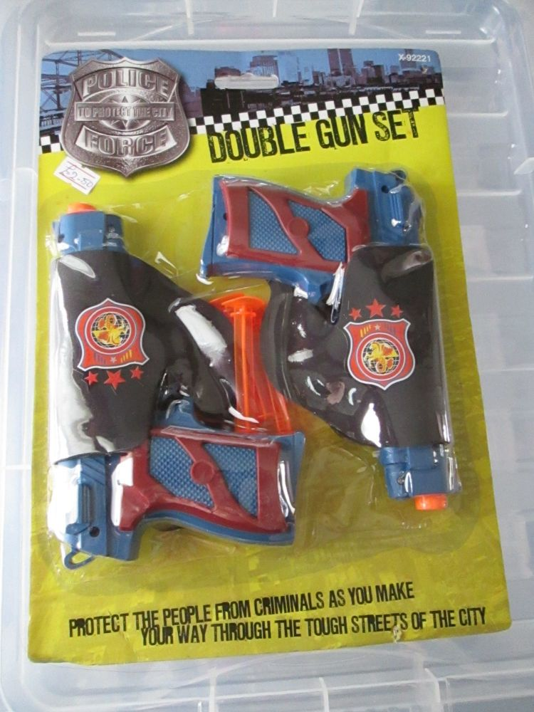 Toy Police Force Double Gun Set