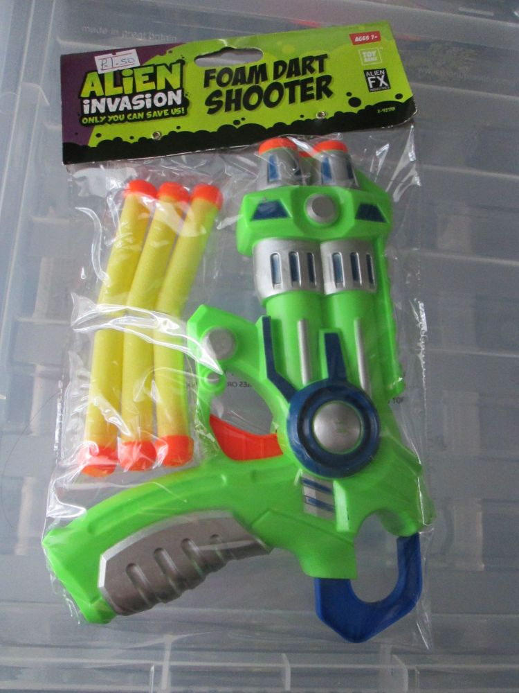 Green Alien Invasion Foam Dart Gun