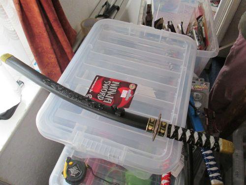 Black Plastic Ninja Sword with Sheath