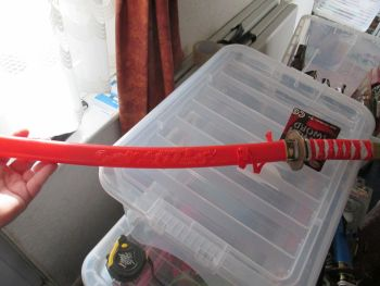 Red Plastic Ninja Sword with Sheath