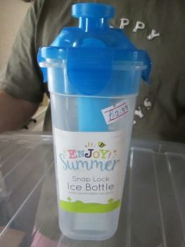 Blue - Snap Lock Ice Bottle with Removable Ice Stick