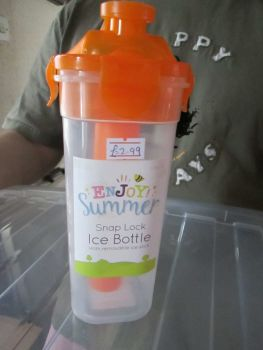 Orange - Snap Lock Ice Bottle with Removable Ice Stick