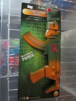 Orange Rapid Fire Machine Gun Toy
