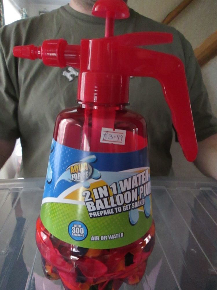 Red - 2 in 1 Aqua Force Water Balloons Pump Set