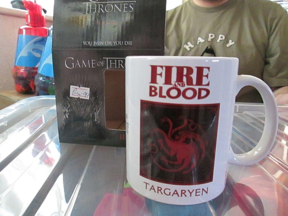 Fire & Blood Targaryn 11oz Game Of Thrones Official Licensed Mug