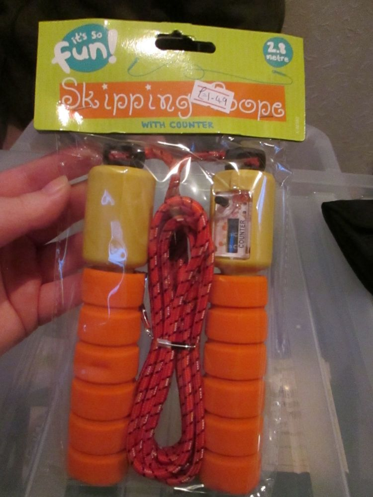 Orange 2.8m Skipping Rope with Counter