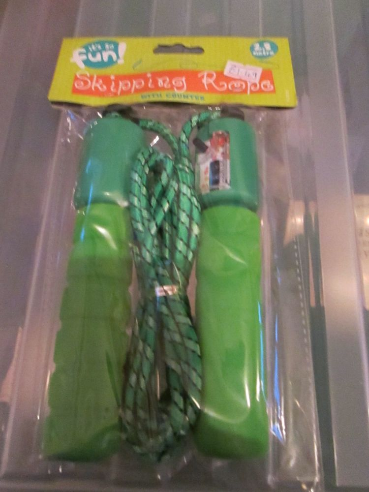 Green 2.8m Skipping Rope with Counter