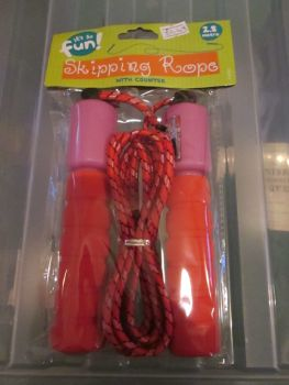 Red 2.8m Skipping Rope with Counter