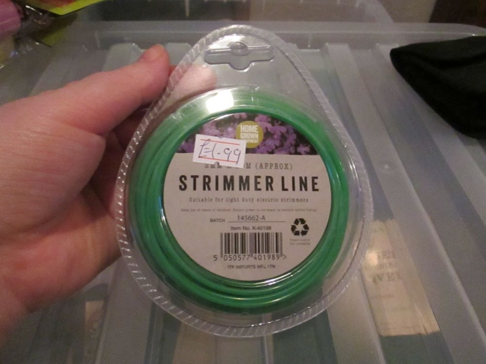 Green 2mm Strimmer Line 2m