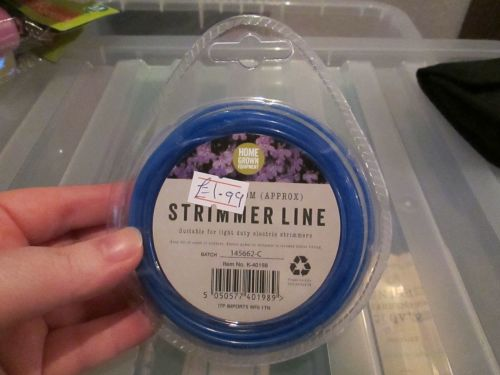 Blue 1.65mm Strimmer Line 2m