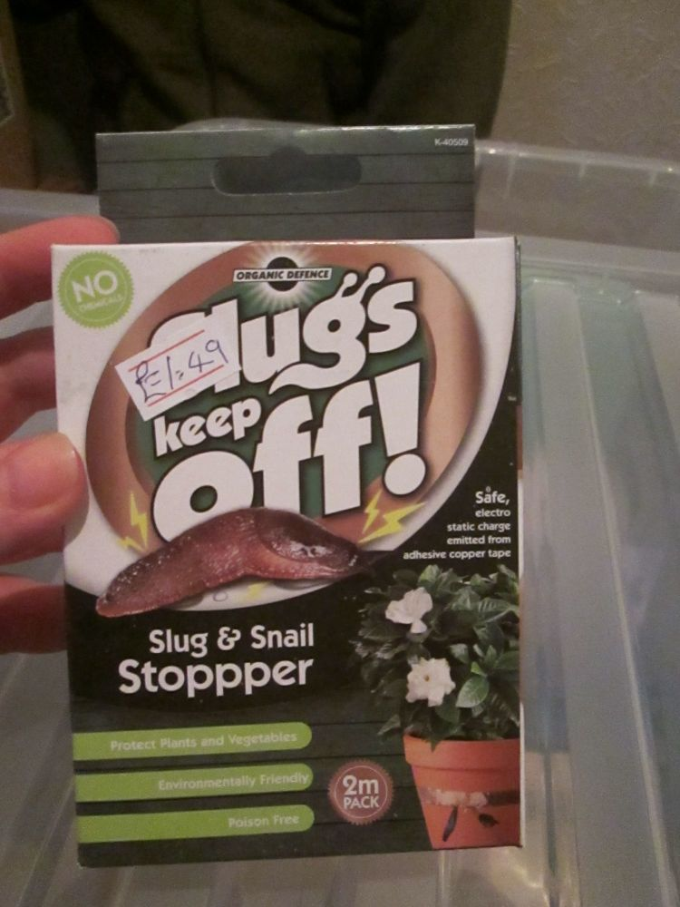Slugs Keep Off - Copper Organic Defense Tape 2m