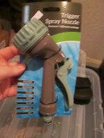 Grey Handled Aqua Flow 7 Setting Trigger Spray Nozzle