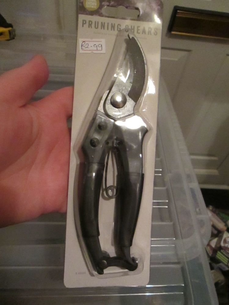 Grey Pruning Shears - Home Grown Planting