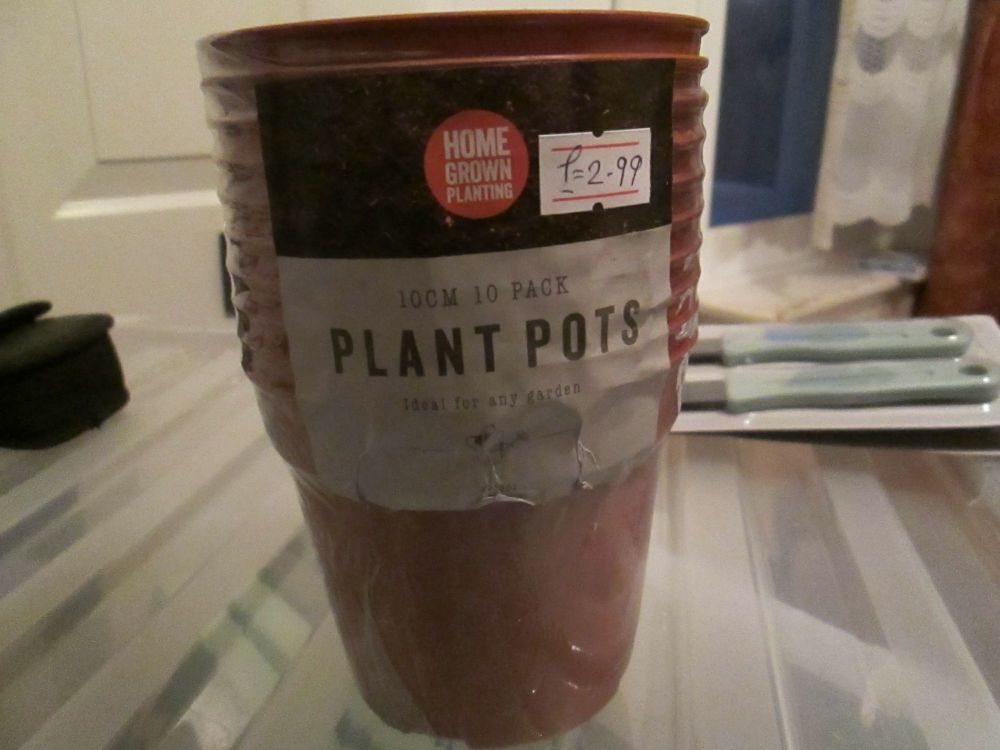 10cm Brown 10pc Plant Pots Set - Home Grown Planting