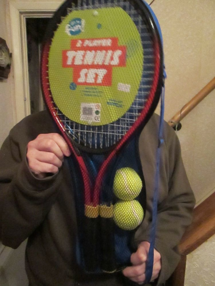 4pc Metal Two Play Tennis Set