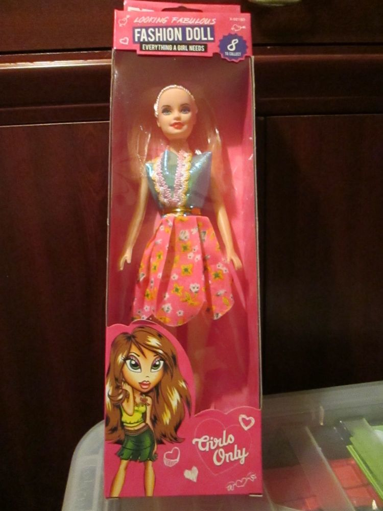 Blue Top Pink Floral Skirt - Fashion Doll