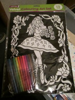 Fairy Dancer - Velvet Colouring Art Set with 12 Felt Pens - Crafty Creations
