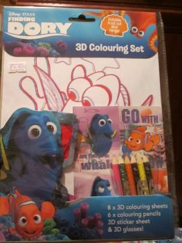 Disney Pixar Finding Dory - Licensed 3D Colouring Set